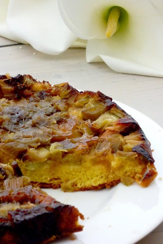 Gâteau renversé à la rhubarbe2