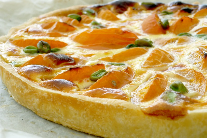 Tarte à la cannelle et aux abricots