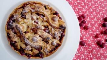 Tarte aux canneberges et pommes