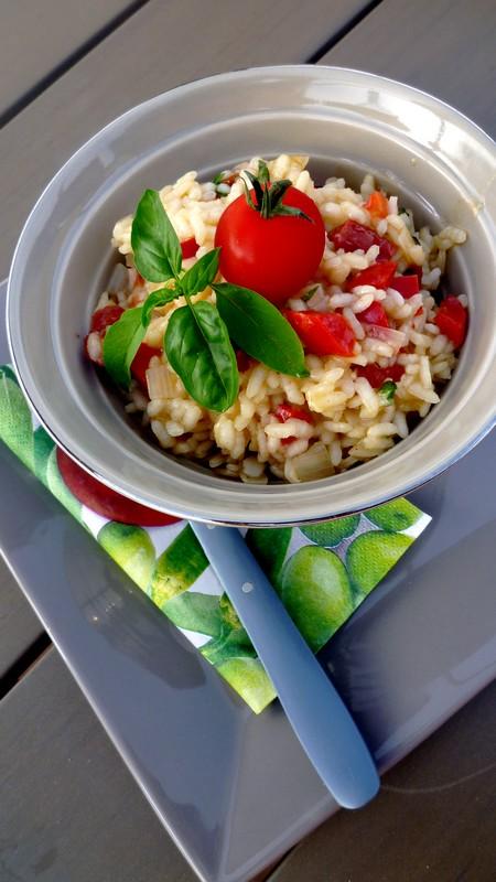 risotto aux tomates s 233 ch 233 es poivron et pecorino cuisine de tous les jours