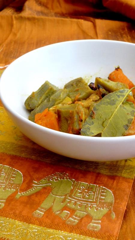 Curry de poulet artichaut et courge cuisine de tous les - Cuisine de tous les jours ...