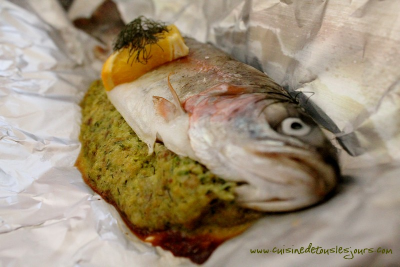 Truites aux herbes et orange en papillote_article