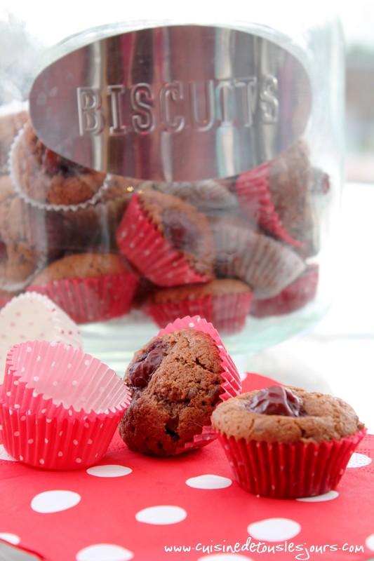 Muffins au chocolat noir et cerises