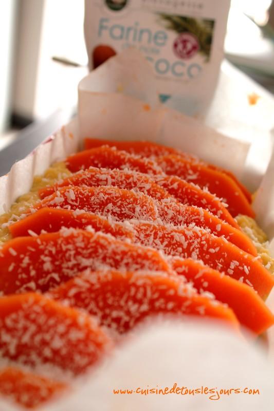 Cake à la farine de noix de coco et papaye 2