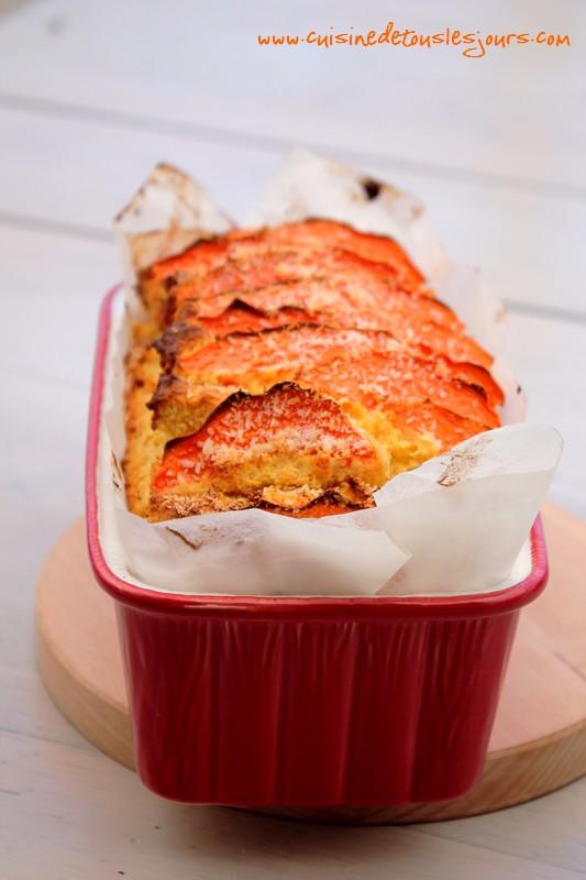 Cake à la farine de noix de coco et papaye 3