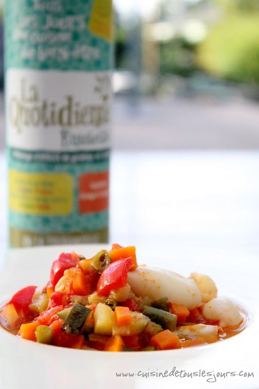 Calamars aux petits légumes