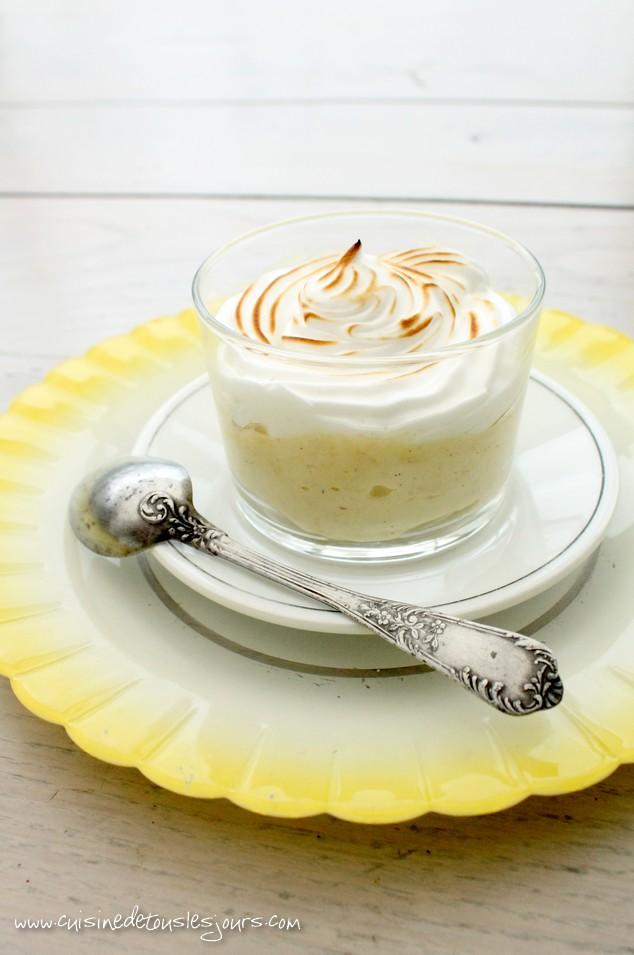 Mousse de citron à la vanille meringuée - Cuisine de tous les jours