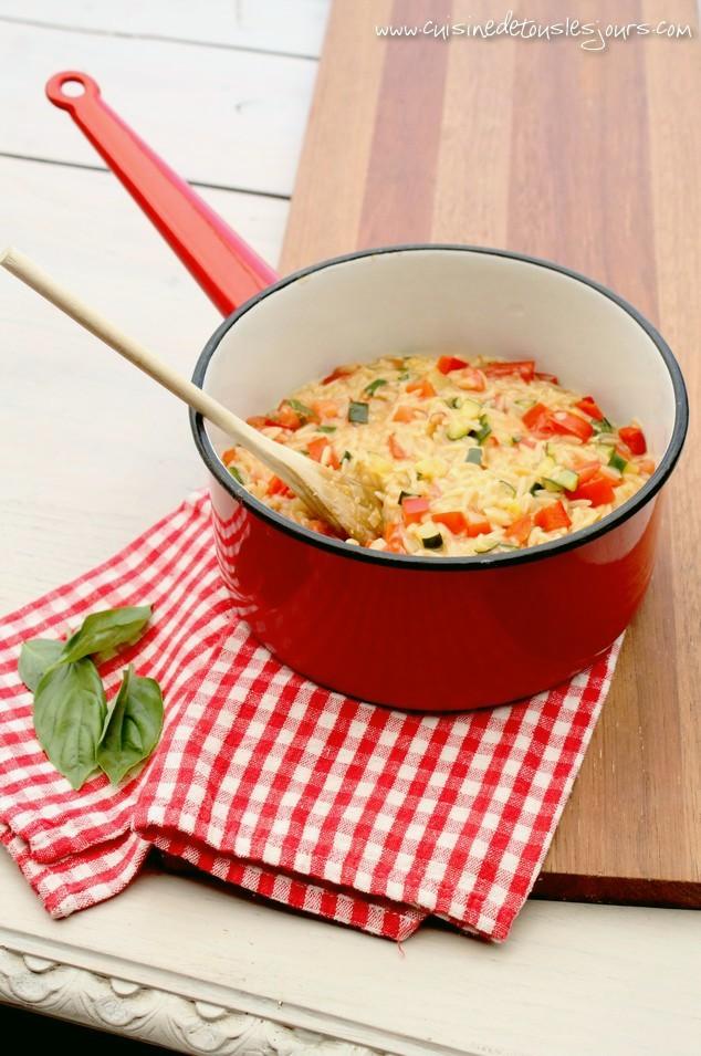 pastasotto de risetti aux légumes sautés | cuisine de tous les jours