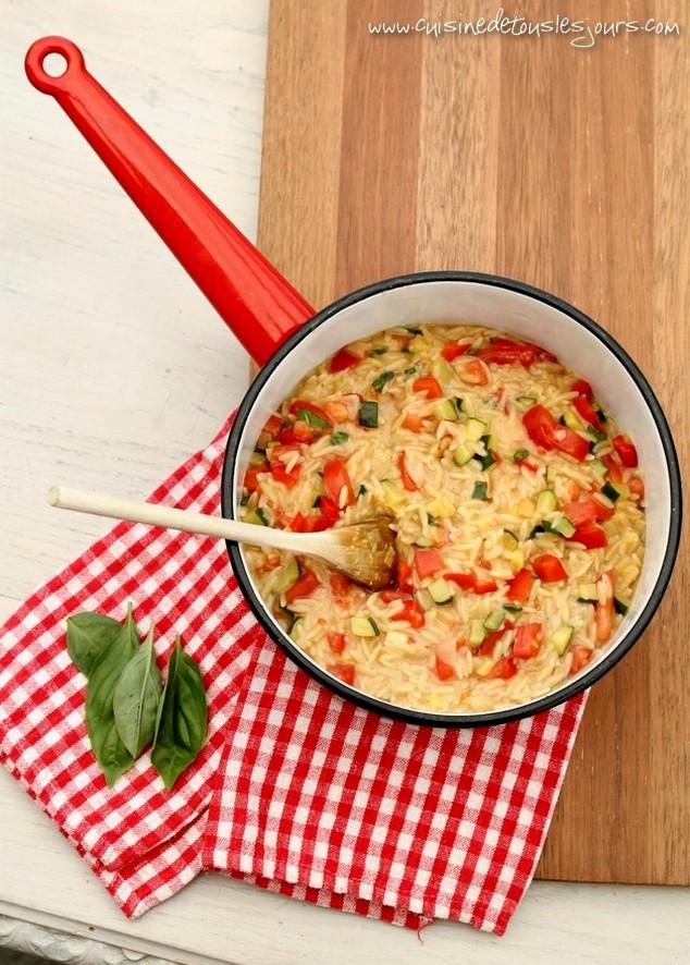 Pastasotto de risetti aux légumes sautés - Cuisine de tous les jours