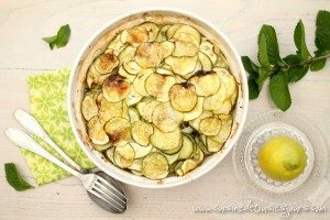 Gratin de courgette à la menthe et au citron confit - www.cuisinedetousleslours.com