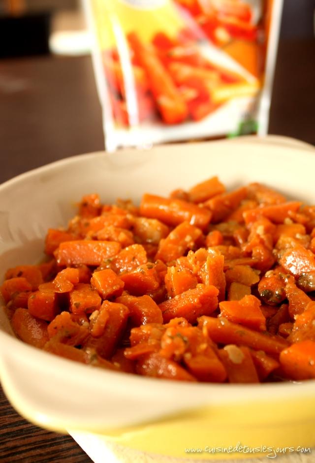 Crumble au parmesan et cumin de carottes cuisinées LOU