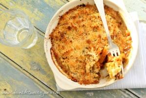 Crumble au parmesan et cumin de carottes cuisinées LOU 041