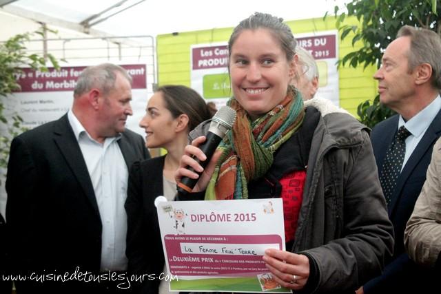 2ème Prix : La confiture de framboise produite de La Ferme Frui'Terre - Nostang
