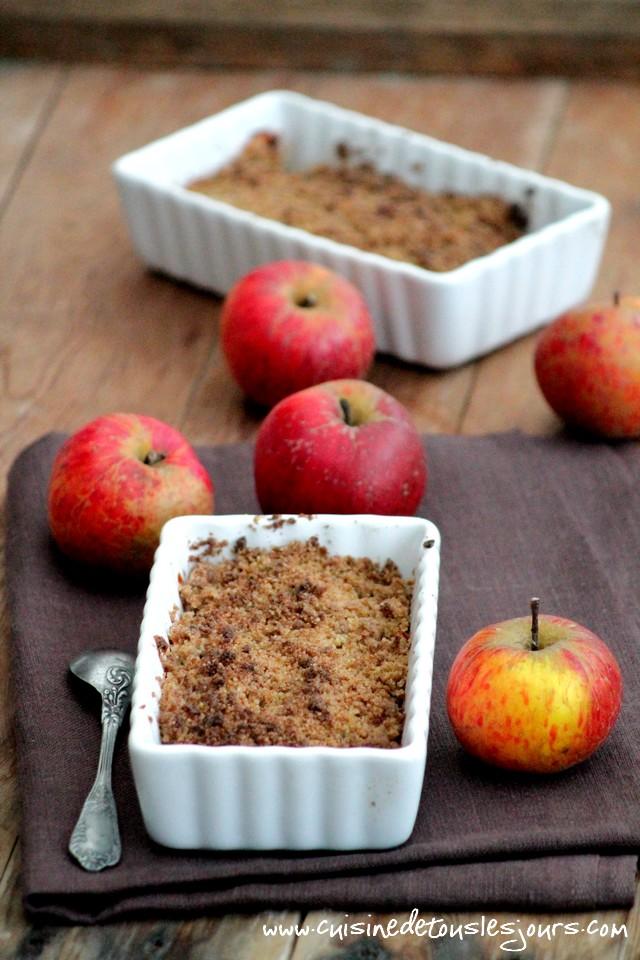 ©www.cuisinedetouslesjours.com - Crumble de pommes au blé noir