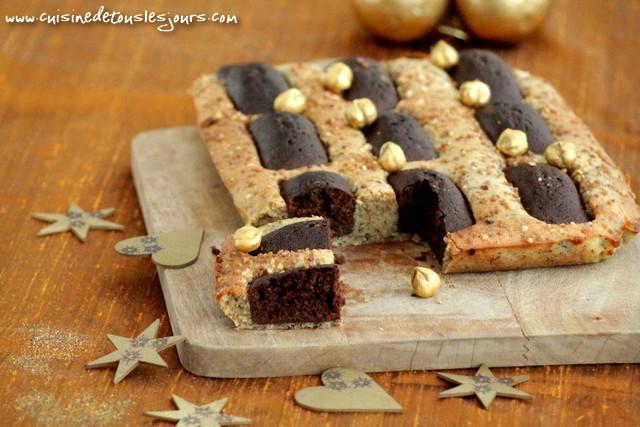 Gâteau aux noisettes et pockets au chocolat_une