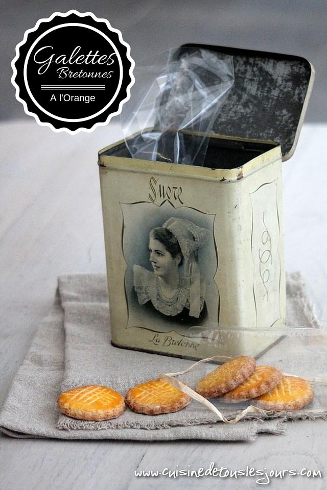 ©www.cuisinedetouslesjours.com - Galettes bretonnes à l'orange