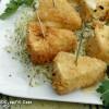 ©www.cuisinedetouslesjours.com - Camerbert pané, crème ail et persil