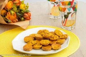 Mini flans à la carotte, surimi et épices tandoori pour Centre Commercial Colombia, Rennes - ©www.cuisinedetouslesjours.com