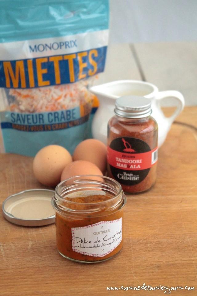 Mini flans la carotte surimi et pices tandoori pour - Du bruit dans la cuisine rennes colombia ...