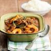 Crevettes et champignons à la sauce tomate aux épices - ©www.cuisinedetouslesjours.com