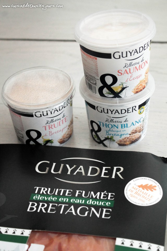 Produits Guyader - Concours Apéritif Dînatoire Guyader – ©www.cuisinedetouslesjours.com