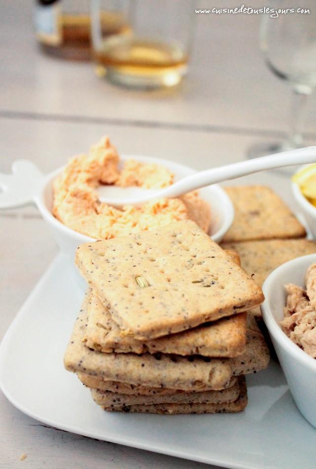 Crackers au sarrasin, fenouil et pavot - Concours Apéritif Dînatoire Guyader - ©www.cuisinedetouslesjours.com