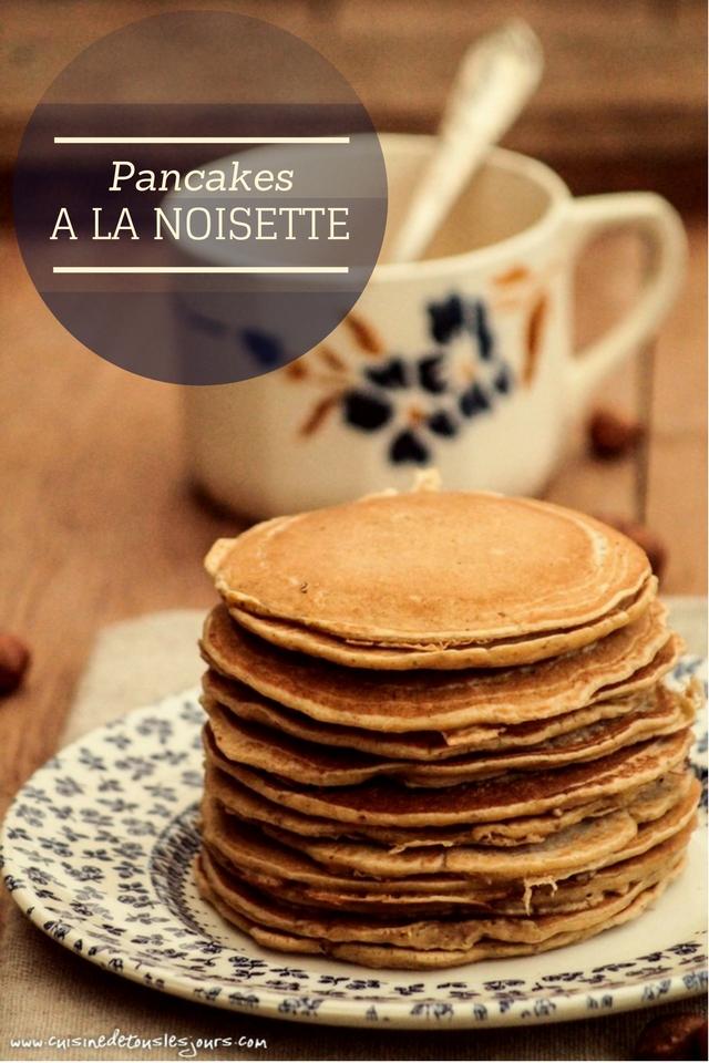 Pancakes à la noisette - ©www.cuisinedetouslesjours.com