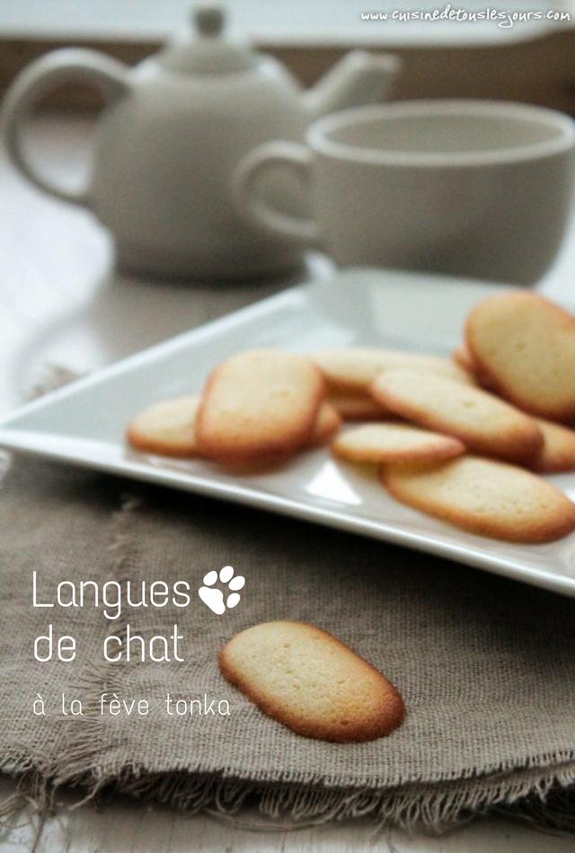 Langues de chat à la fève tonka - ©www.cuisinedetouslesjours.com