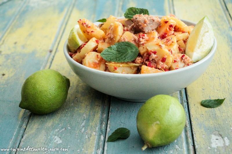 Salade thon et pommes de terre - ©www.cuisinedetouslesjours.com