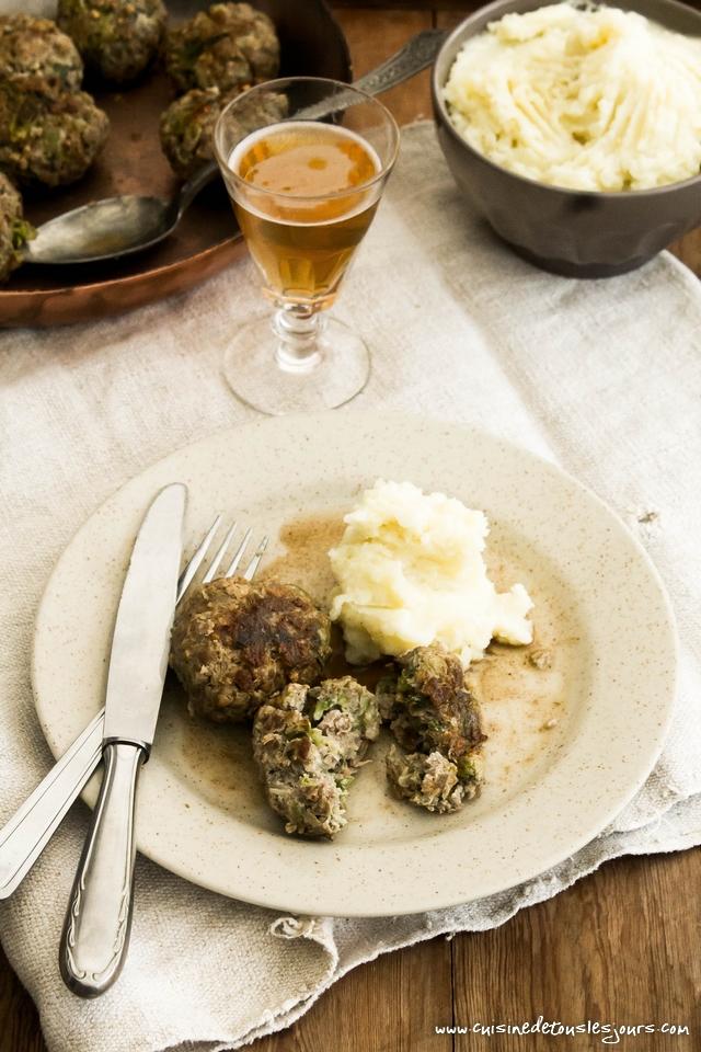 Boulettes d'agneau au sarrasin et chou, sauce au cidre - Recette du concours SuperBall de L'Agneau si simple, si bon - ©www.cuisinedetouslesjours.com