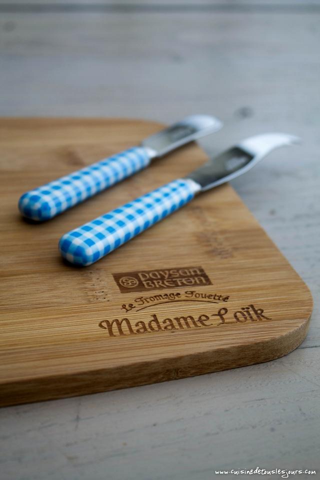 Jeu Concours sur le blog, participez pour tenter de gagner un joli lot pour réveiller votre plateau de fromage grâce à Madame Loïk - photo : ©www.cuisinedetouslesjours.com