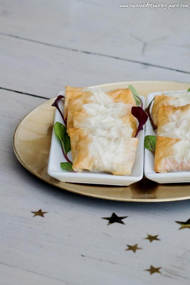 Crevettes croustillantes au saumon et à l'aneth – Réalisation avec les produits Guyader - ©www.cuisinedetouslesjours.com
