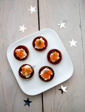 Rillettes de noix de st-jacques en barquette de betterave façon pickles – Réalisation avec les produits Guyader - ©www.cuisinedetouslesjours.com