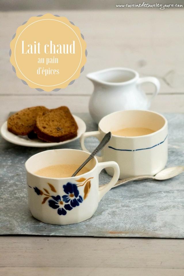 Lait chaud au pain d'épices - ©www.cuisinedetouslesjours.com