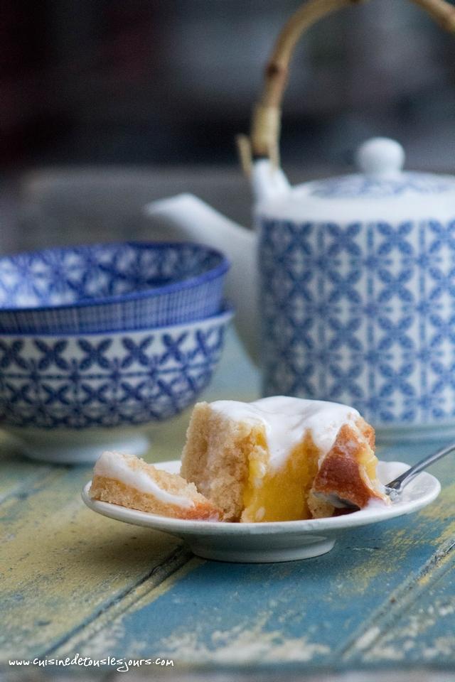 """Carrés de gâteau Ker Cadélac """"Mon Gâteau"""" fourrés au citron - ©www.cuisinedetouslesjours.com"""