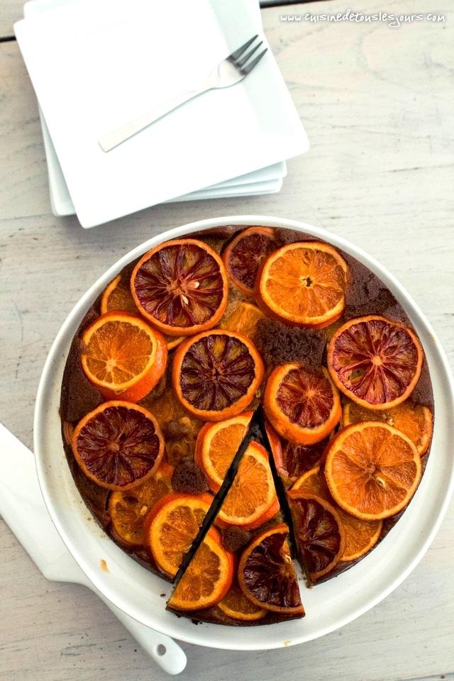 Gâteau renversé au sarrasin et amande à l'orange – ©www.cuisinedetouslesjours.com