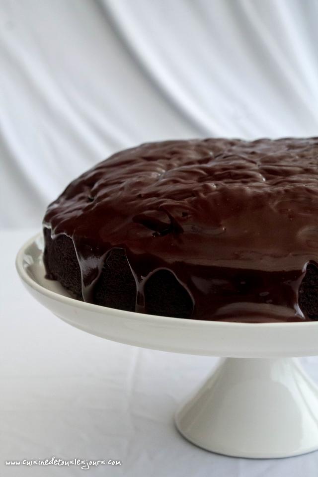 Gâteau au chocolat et à la bière brune - ©www.cuisinedetouslesjours.com