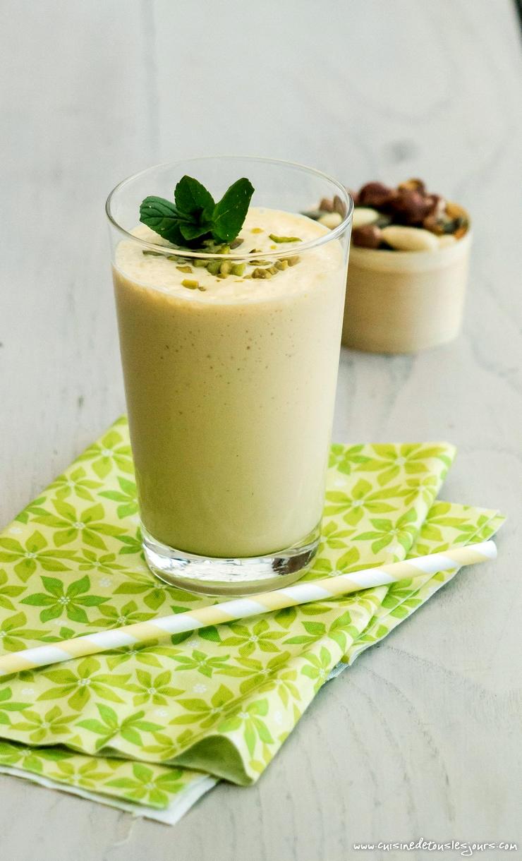 Lassi végétarien à la mangue - ©www.cuisinedetouslesjours.com