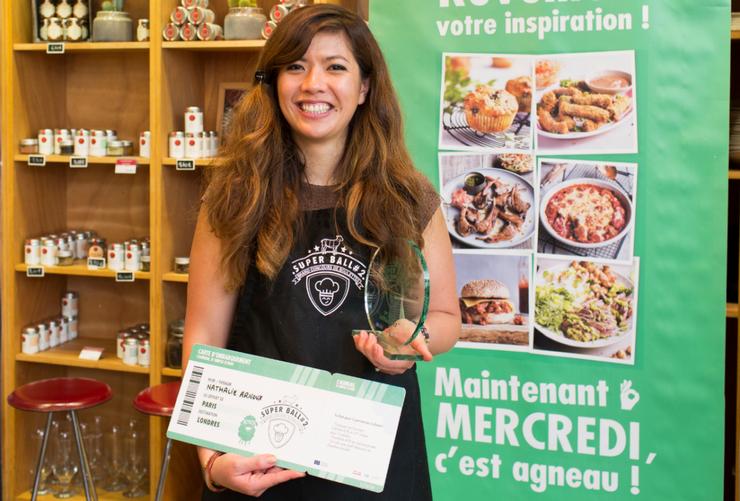 Nathalie Maclin Arnoux, gagnante 2017 du concours Super ball de L'Agneau Si Simple, Si Bon