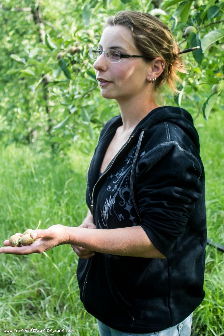 Lucie ILLY - productrice de pommes à Laragne-Monteglin – ©www.cuisinedetouslesjours.com