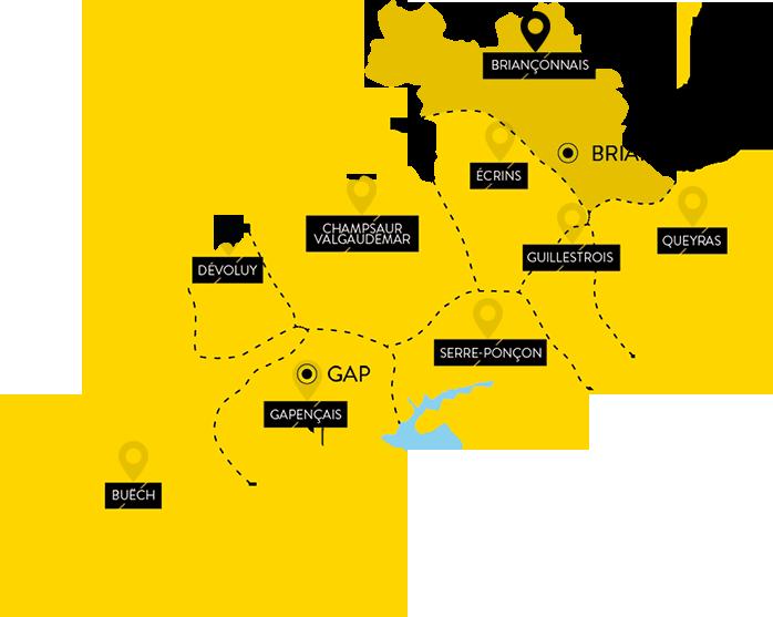 Cartographie : Agence Départementale deDéveloppement Economique etTouristique des Hautes Alpe