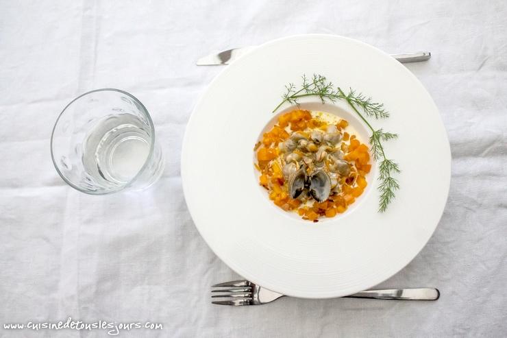 Coques au safran et carottes au gingembre – ©www.cuisinedetouslesjours.com