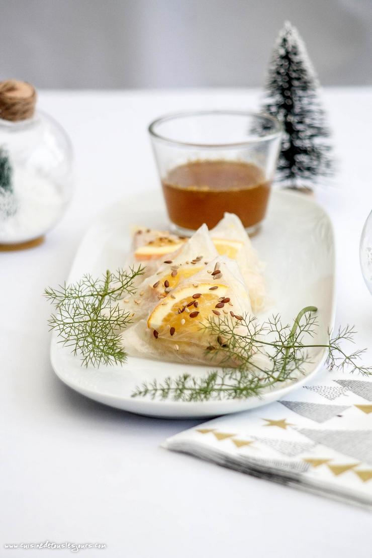 Triangles de foie gras au fenouil et à l'orange – ©www.cuisinedetouslesjours.com
