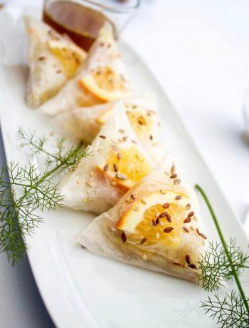 Triangles de foie gras au fenouil et agrumes-8