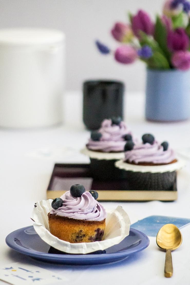 Cupcakes à la myrtille pour Centre commercial Colombia, Rennes - ©www.cuisinedetouslesjours.com