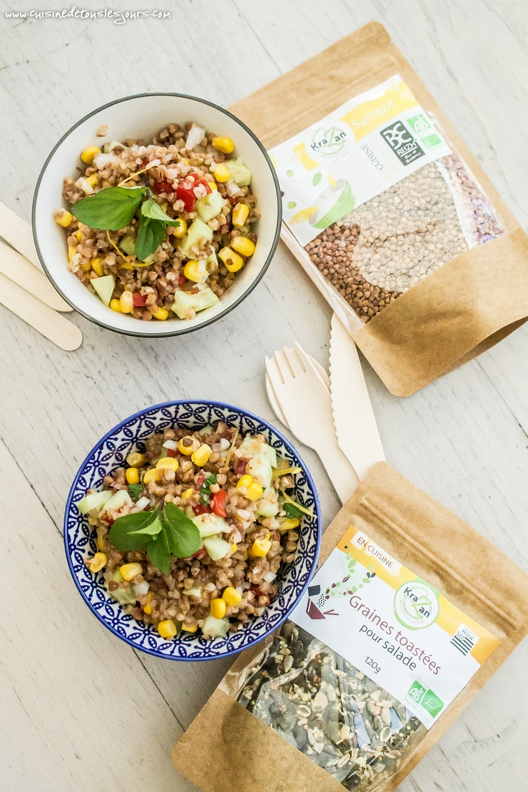 Salade de Kasha - Collaboration KRAZAN - ©www.cuisinedetouslesjours.com