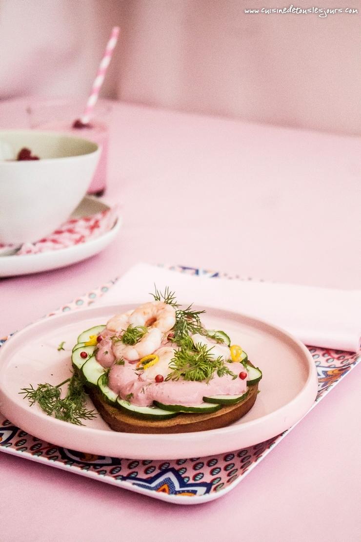 Tartines nordiques pour Centre commercial Colombia, Rennes - ©www.cuisinedetouslesjours.com