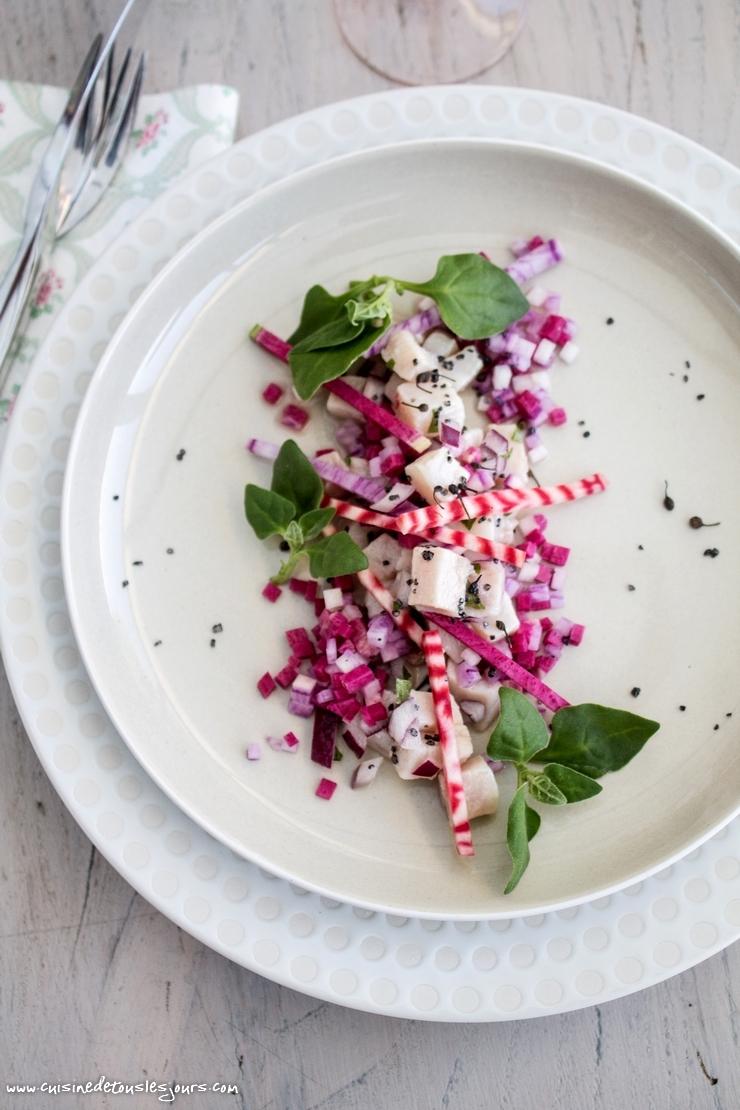 Ceviche de thon, brunoise de radis - ©www.cuisinedetouslesjours.com