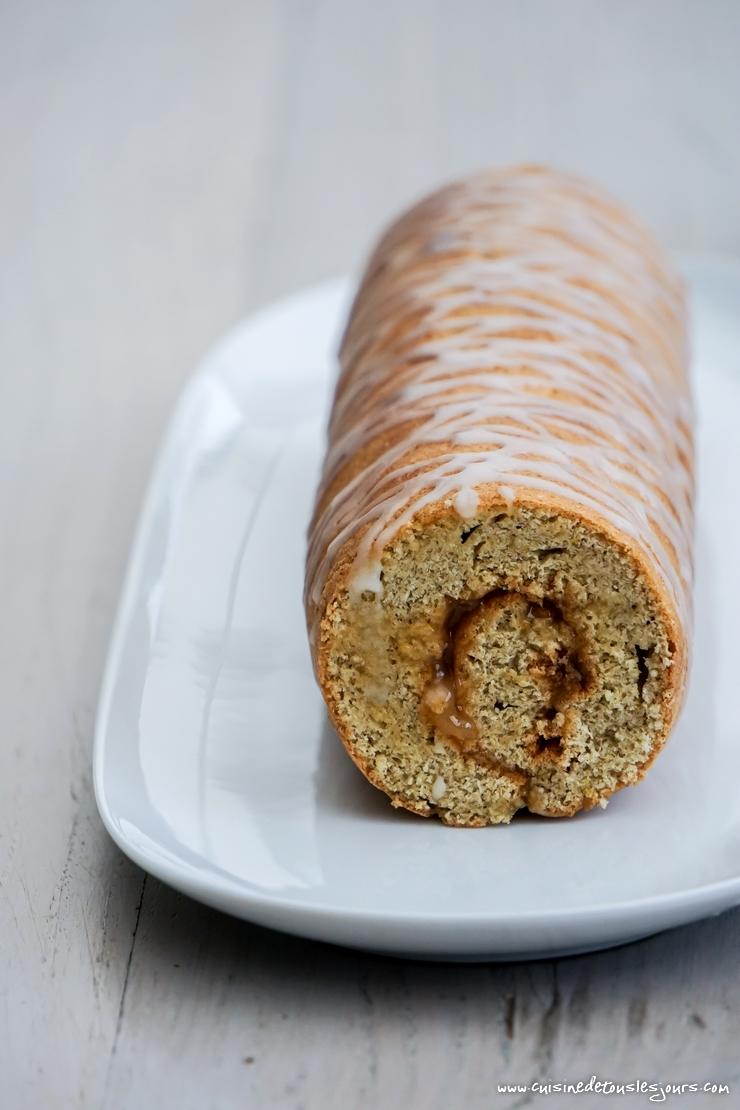 Gâteau Roulé au blé noir et crème de citron - ©www.cuisinedetouslesjours.com