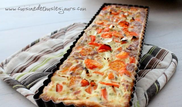 Tarte aux carottes, lait de coco et coriandre_une